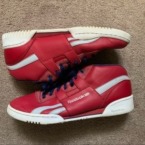 Reebok Classic Red/White Leather Shoe Sneaker 13
